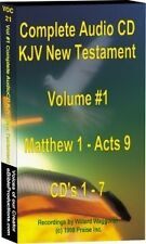 Audio New Testament Bible KJV on 14 Audio CDs