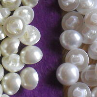 HALF PEARL BUTTONS/ PEARL SHANK BUTTONS X 10- BEST QUALITY - 7MM- 11.5MM
