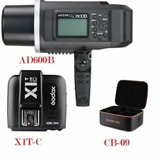 UK Godox AD600B 600w TTL Portable 2.4G Flash X1T-C Trigger CB-09 Case for Canon