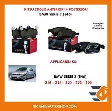 Kit pastiglie freno BREMBO Anteriori e Posteriori BMW 3 E46 316-318-320-323-325