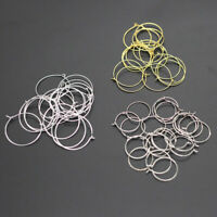 100Pcs DIY Earring Hoops Wires Charm Jewelry Making Findings Fashion