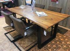 Esstisch Tisch Baumkante 140x80cm Akazie Cognac