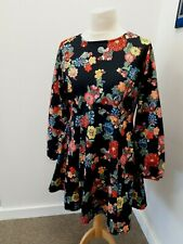 SimplyBe - Floral Skater Style Dress - UK Size 14