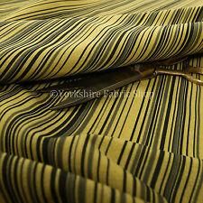 New Horizontal Black Striped Pattern Yellow Colour Furnishing Upholstery Fabrics
