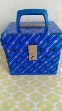 Vintage 7 Inch Vinyl Record Single Storage Box Carry Case 60s 70s 80 BLUE quirky
