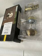 Baldwin Prestige Series SmartKey Double Cylinder Round Deadbolt Satin Nickel