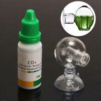 Aquarium Carbon Dioxide CO2 Monitor Glass Drop Ball Checker +Tester PH Indicator