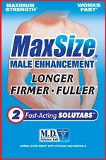 Max Size Erection Pills for Men Male Enhancement Erectile ENLARGER Longer HARDER