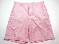 Footjoy FJ Men's Pink Nylon Performance Shorts Flat Front Golf Size 34x10