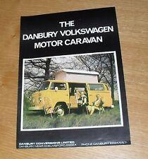 Volkswagen VW Danbury Motor Caravan / Camper Brochure 1976