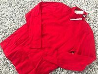 GOSHA RUBCHINSKIY FILA XL LONGSLEEVE TURTLENECK TEE XLARGE 1984 T-SHIRT SS17 RED