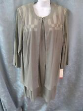 90's John Roberts Olive Green Dress & Long Blazer Set NWT SIze 16WP