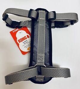 "KONG Padded Chest Plate Dog Harness BRAND NEW-Medium Grey Girth 20-29"""
