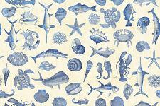 FABRIC Quilting Treasures ~ OCEAN OASIS ~ Dan Morris (25831 E) by 1/2 yd