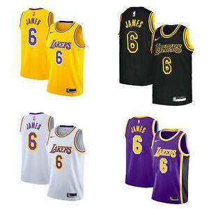 New Men's Lebron James #6 Los Angeles Lakers 2021 Swingman Jersey