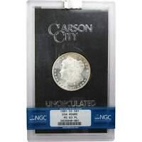 1881 CC GSA $1 Morgan Silver Dollar Coin MS 63 PL NGC