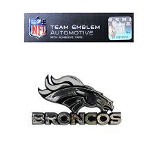 Promark New NFL Denver Broncos Plastic Chrome 3-D Auto Emblem Sticker Decal