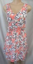 """""""BANANA REPUBLIC"""" MULTI FLORAL CASUAL CAREER CUT-OUT BACK DRESS SIZE: 8 NWT $80"""