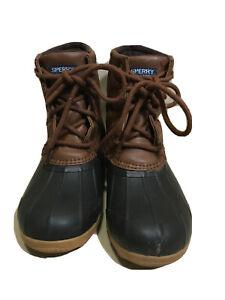 Sperry Port Duck Boots Boys 2M Snow Rain Hunting