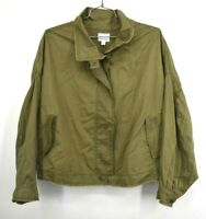 Melrose & Market Womens Green Button Front Batwing Sleeve Utility Jacket 3X