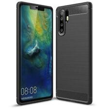 Huawei P30 Pro Lite Handy Hülle Schutzhülle Silikon Case Schwarz Cover Carbon