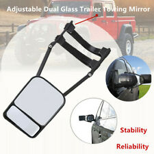 Dual Glass SUV Truck Trailer Mirror Clip-on Towing Rearview Mirror Wide View Fix