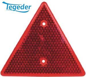 Dreieckrückstrahler rot zum Schrauben 160x140 Rückstrahler