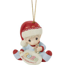 Precious Moments Dated 2020 Ornament Baby's 1st Christmas Boy 201006 New