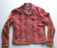 Eddie Bauer Womens Jacket Stretch Plaid Long Sleeve Button Up Size S Small