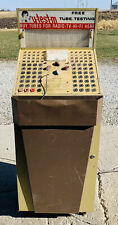 Vintage u-test-m Tube Tester Retail Self Service Radio Tv Storage Cabinet Works