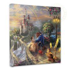Thomas Kinkade Disney Beauty and the Beast Falling in Love 14 x 14 Gallery Wrap