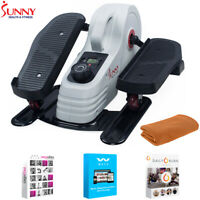 Sunny Health and Fitness Magnetic Under Desk Elliptical + Fitness Suite & Towel