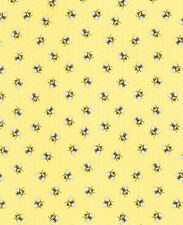 Fabric 100% Cotton Timeless Treasures Lemon Bees C5376