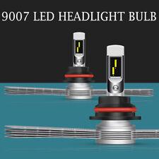2pcs 9007 HB5 LED Headlight Bulbs Hi/Low Beam Fanless Cooling Fin Car Truck Lamp