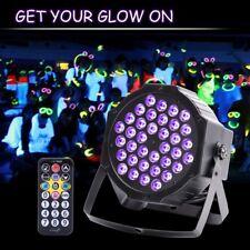 72W LED Black Light Real UV Par Can Stage Lighting DMX Disco Party DJ Light