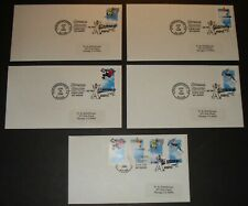 #3321-3324, 3324a EXTREME SPORTS UNCACHETED SET OF 5 FIRST DAY COVER FDC