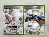 Xbox Original Madden 2004 NCAA 2005 Football Top Spin Games Lot 3 Tested Working