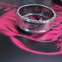 19C VICTORIAN SWALLOW BANGLE CUFF STERLING SILVER BEAD WORK Aesthetic Japonesque