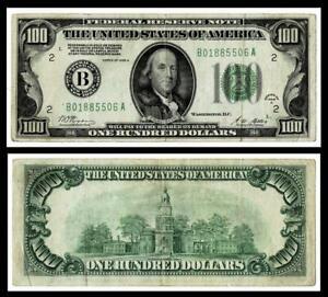 1928-A $100 DOLLAR BILL  FEDERAL RESERVE ~ VERY FINE