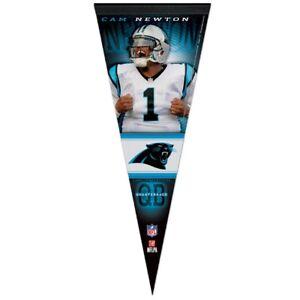 Carolina Panthers #1 Cam Newton Wincraft NFL 12x30 Premium Pennant