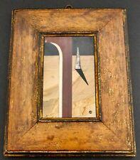 Richard Blow Modernist Montici Pietra Dura Inlay In Artist's Frame - Signed