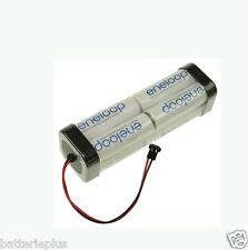 9,6v 1900mAh Panasonic Eneloop Battery Transmitter Type 8n-2000tx Double Row