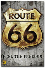 """Route 66 Feel the Freedom Fridge Magnet Size 2.5"""" x 3.5"""""""