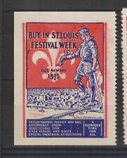 Us Poster Stamp St Louis Festival Week 1915 Cars etc.