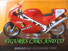 MOTO 1/24 COLLECTION DUCATI  851 SUPERBIKE 1990 MOTORCYCLE