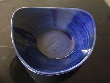 Churchill 23.5cm Stonecast PABLTRB91 Cobalt Blue Triangle bowl