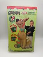Vintage Gemmy Airblown Inflatable Scooby-Doo Reindeer WIth Scarf 4 Ft In Box