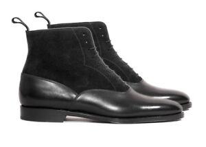 Handmade Black Suede boots, Men Suede Ankle Boots, Men Formal Dress Boots