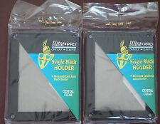 2X ULTRA PRO BLACK FRAME CARD SCREWDOWN HOLDER Recessed 4 Screw Clear Display