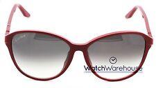 Cartier Double C Decor Burgundy 60/15/140 Women's Sunglasses ESW00104 New Orig